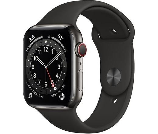 Apple Watch Series 6 LTE 44mm rm. acél grafit
