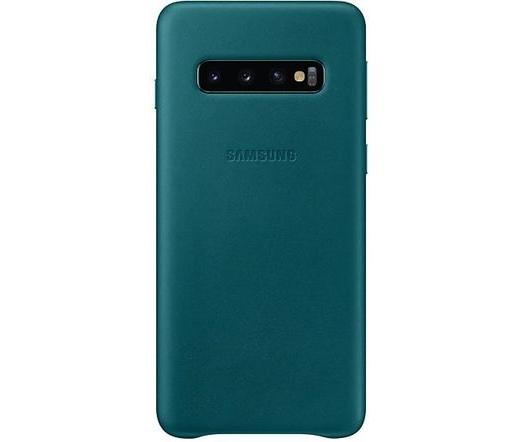 Samsung Galaxy S10 bőrtok zöld