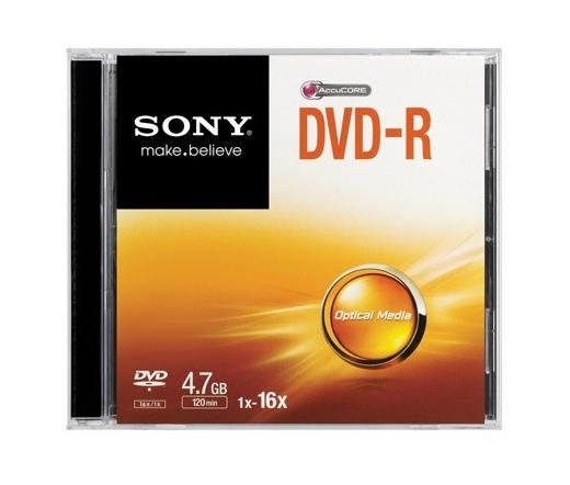 Sony DVD-R 4,7GB 16x keskeny dobozban