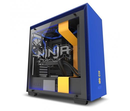NZXT H700i Ninja Special Edition - kék ablakos