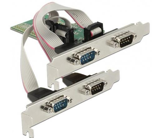 Delock PCI Express-kártya > 4 x Soros RS-232
