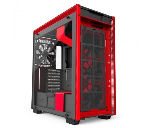 NZXT H700i Matt fekete-piros