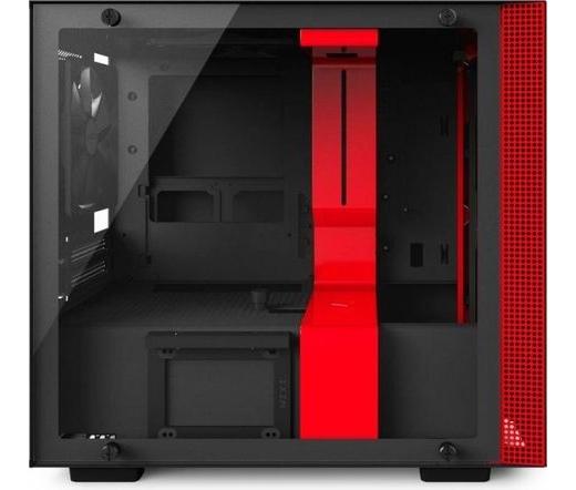 NZXT H200i matt fekete + piros
