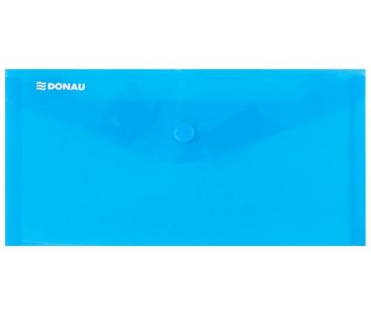 Donau Irattartó tasak, 220x110x0,18, patentos, kék