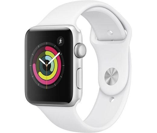 Apple Watch S3 38mm ezüst/fehér sportszíj