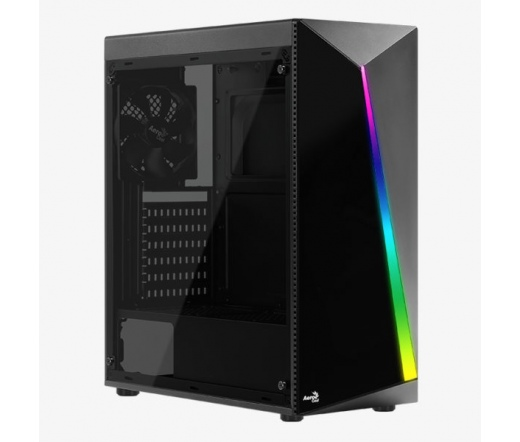 Aerocool Shard RGB üveges, fekete