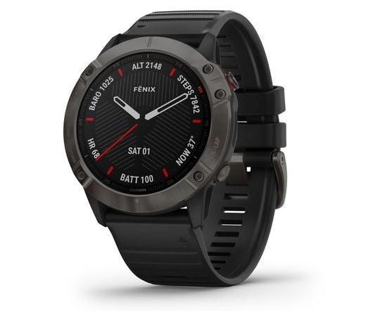 Garmin Fenix 6X Pro Sapphire Carbon DLC fekete