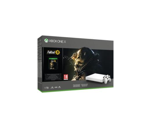Microsoft Xbox One X 1TB Fehér konzol + Fallout76