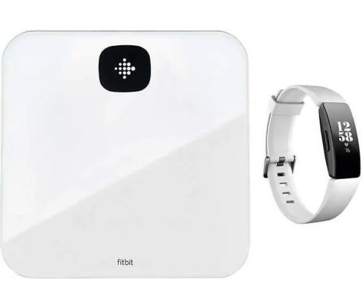 Fitbit Inspire HR + Aria Air okosmérleg fehér