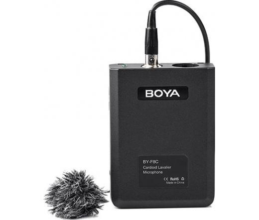 Boya BY-F8C kardiodid XLR csíptetős mikrofon