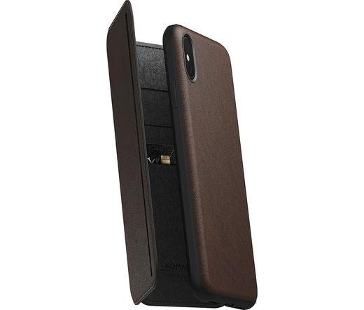 Nomad Rugged Tri-Folio iPhone XS Max ruszt. barna
