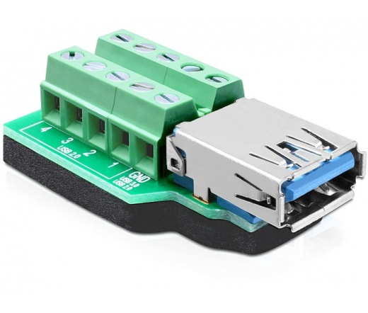 Delock Adapter USB 3.0-A anya > Terminal Block
