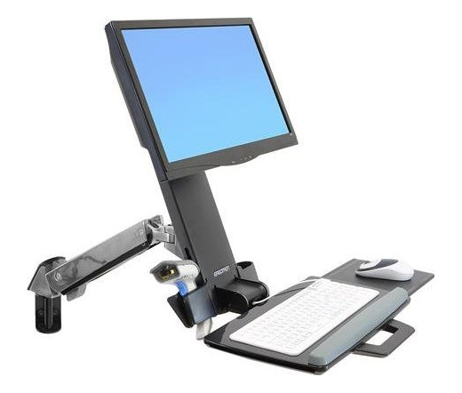 Eegotron StyleView Sit-Stand Combo Arm alumínium