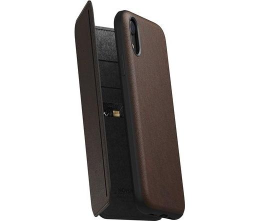 Nomad Rugged Tri-Folio iPhone XR rusztikus barna