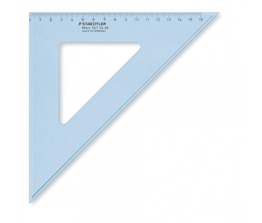 "Staedtler ""Mars"" Háromszög vonalzó, 45°, 25 cm"