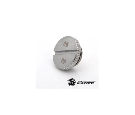 """Bitspower G1/4"""" alacsony profilú lezáró dugó ezüst"""