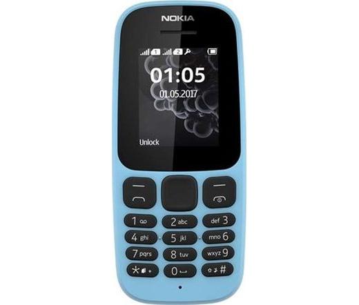 Nokia 105 2017 Dual SIM kék, nincs magyar nyelv