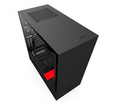 NZXT H500I ablakos fekete-piros