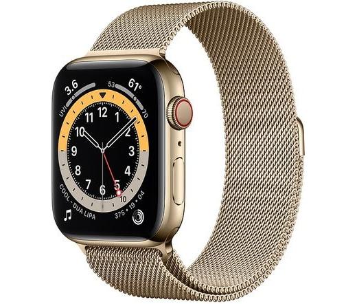 Apple Watch Series 6 LTE 44mm rm. acél arany