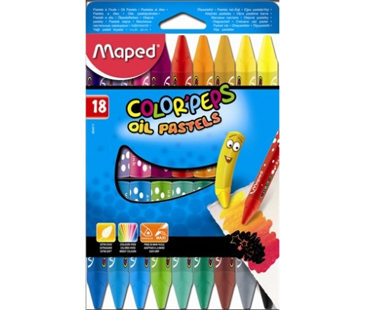 "Maped Olajpasztell kréta, ""Color`Peps"", 18 darabos"