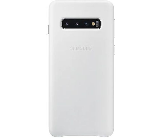 Samsung Galaxy S10 bőrtok fehér