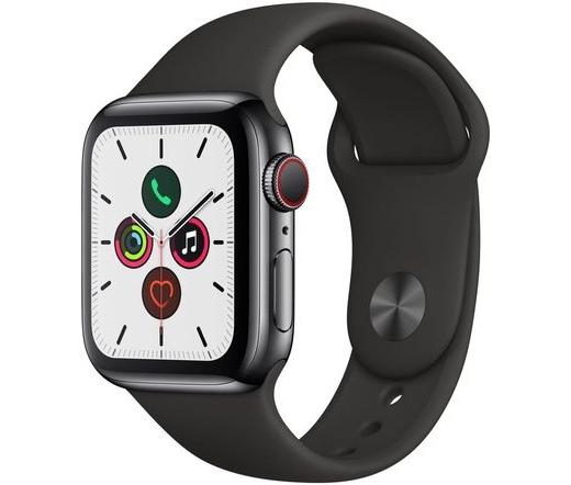 Apple Watch S5 40mm LTE acél asztroszürke sportsz.