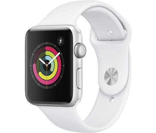 Apple Watch S3 42mm ezüst/fehér sportszíj