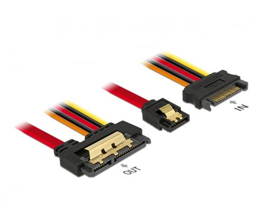 Delock Cable SATA 6 Gb/s 7pin receptacle+SATA 15pi