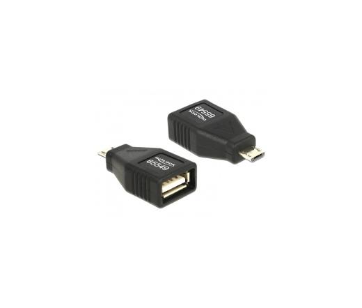 Delock USB Micro B apa > USB 2.0 anya OTG burkolt