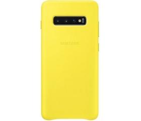 Samsung Galaxy S10+ bőrtok sárga