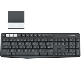 Logitech Keyboard K375s + tablet-/telefonállv. DE.
