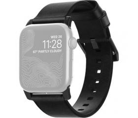 Nomad Modern Apple Watch szíj fekete + fekete csat
