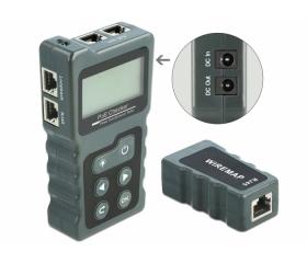 Delock LCD kábel tesztelő RJ45 / PoE / DC