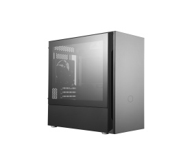 Cooler Master Silencio S400 edzett üveg fekete ház